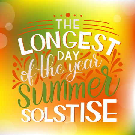 Ilustración de Summer solstice lettering. Elements for invitations, posters, greeting cards - Imagen libre de derechos