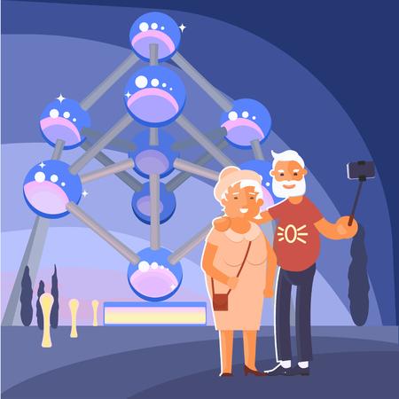 Healthy active lifestyle retiree for grandparents  Elderly