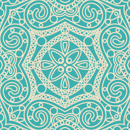 Bright Blue Damask Wallpaper