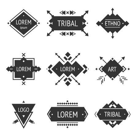 Illustration pour Vector Tribal elements, ethnic collection - image libre de droit