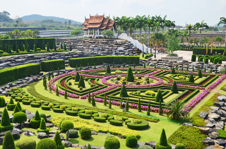 Nong Nooch Tropical Garden in Pattaya, Thailand, formal garden