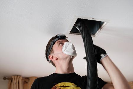 Photo pour Air Duct Cleaning, vents, registers - image libre de droit