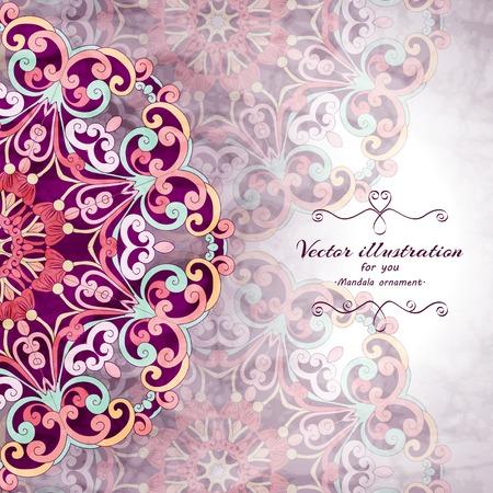 Elegant Indian Ornamentation Background Stylish Design Can