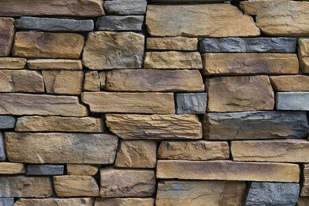 Foto de stone wall texture and background, close up - Imagen libre de derechos