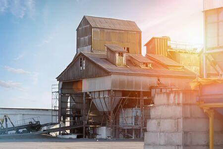 Foto de Grain processing complex intended for coarse purification, drying up, and temporary storage of grain. - Imagen libre de derechos