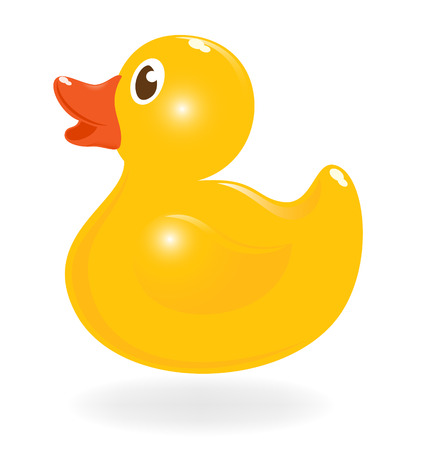 Classical rubber-duck. Vector-Illustration
