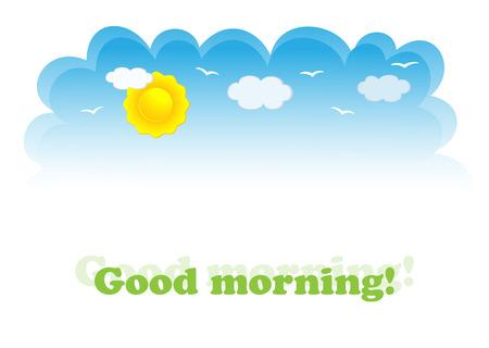 Banner of day-sky. Vector-Illustration
