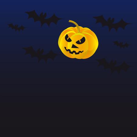 Pumpkin horror story bats dark background