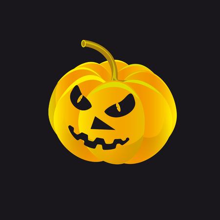 Pumpkin horror story black background
