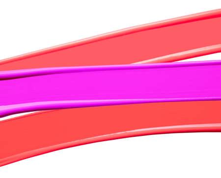 Foto für Lipstick red and pink smudge swatch isolated on white background - Lizenzfreies Bild