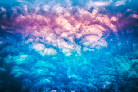 Cloud background with gradient colorful