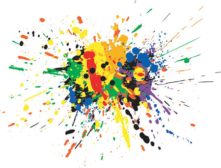 Illustration for Vector design of colorful paint spill grunge - Royalty Free Image