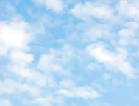 Illustration pour light clouds on a blue sky made with a gradient mesh - image libre de droit
