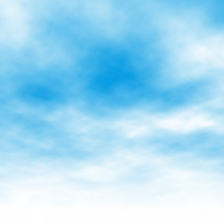 Illustration pour Editable vector illustration of light clouds in a blue sky made using a gradient mesh - image libre de droit