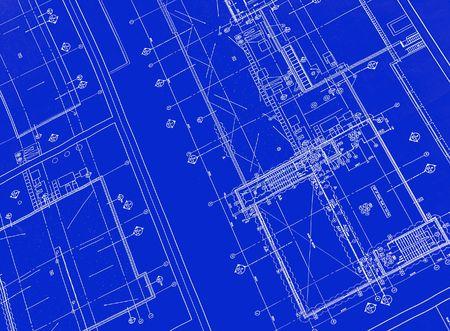 Foto de A blueprint with black ink - Imagen libre de derechos