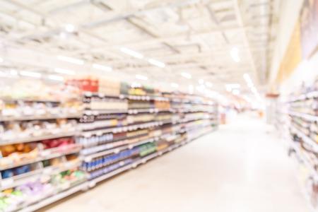 Foto de Blurred background-abstract blur shopping mall store interior. - Imagen libre de derechos