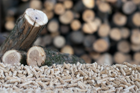 Pellets- selective focus on the heap