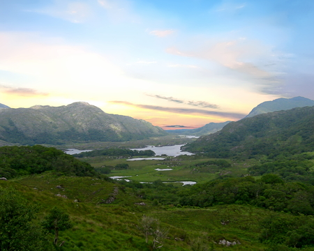 Killarney National Park with the Lakes of Killarney in the background. County Kerry, Ireland