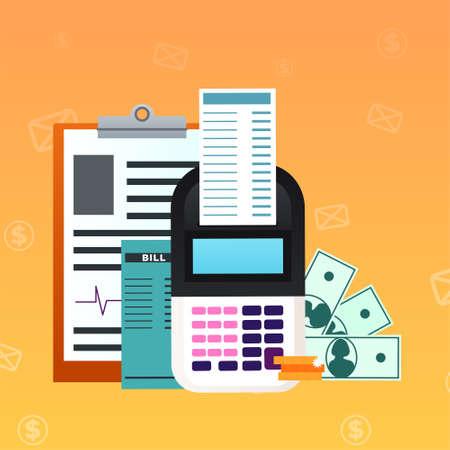 Ilustración de Workplace Top view vector illustration in flat style - Imagen libre de derechos