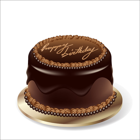 Birthday party chocolate cake