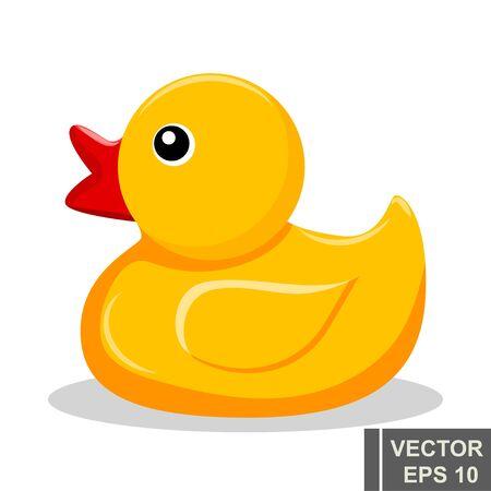 Ilustración de Yellow rubber duckling. Bathroom. Children s. For your design. - Imagen libre de derechos