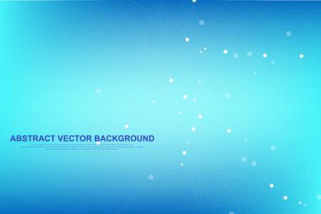Illustration pour Abstract plexus background with connected lines and dots. Plexus geometric effect Big data with compounds. Lines plexus, minimal array. Digital data visualization. Vector illustration - image libre de droit