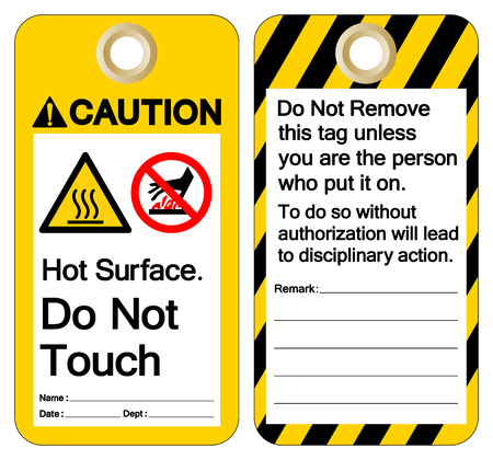 Caution Hot Surface Do not touch Symbol Sign ,Vector Illustration, Isolate On White Background Label. EPS10