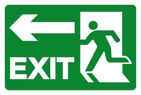 Illustration pour Exit Symbol Sign, Vector Illustration, Isolate On White Background Label. EPS10  - image libre de droit
