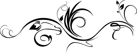 Illustration pour Ornamental element isolated on the white - image libre de droit