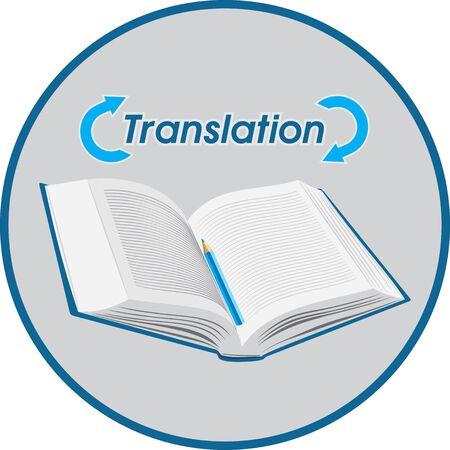 Illustration pour Translation. Icon for design - image libre de droit
