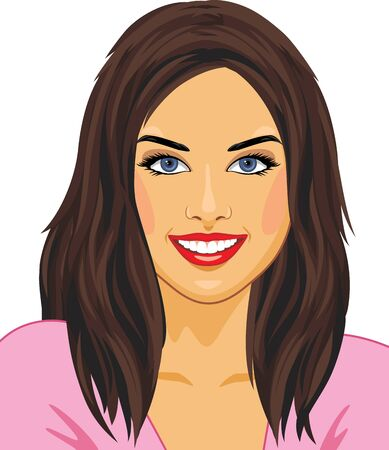 Illustration for Portrait of a happy beautiful girl - Royalty Free Image