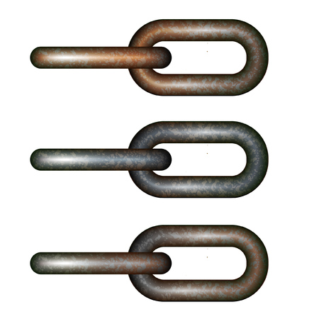 Illustration for Variable color tint chain link set. - Royalty Free Image