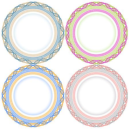 Illustration pour Decorative circles collection. - image libre de droit