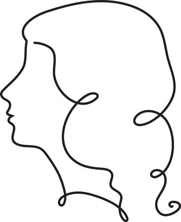 Illustration pour Creative female face continuous line drawing. Abstract face one line drawing. Woman portrait minimalistic style. One liner vector. - image libre de droit