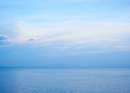 Photo for Calm sea, clouds, and blue sky - Royalty Free Image