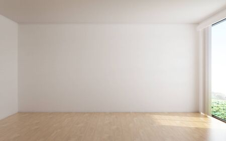 Photo for The interior design of empty room and white wall background - Royalty Free Image