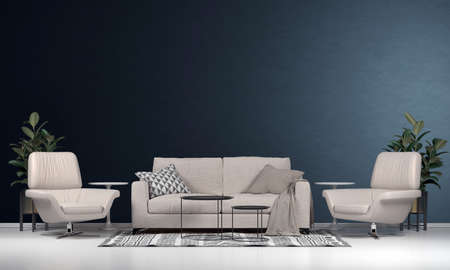 Photo pour Modern interior design decoration of living room and wall texture background - image libre de droit