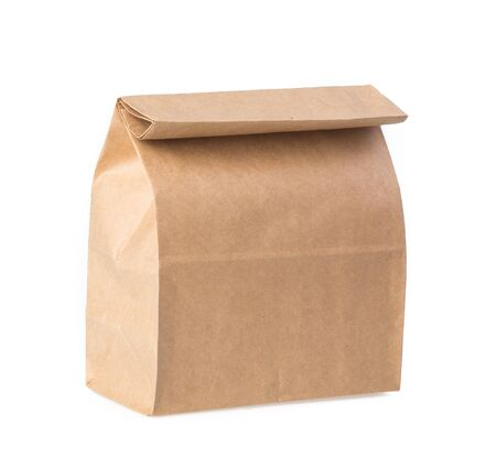 Photo for Brown paper bag isolated on white - Royalty Free Image