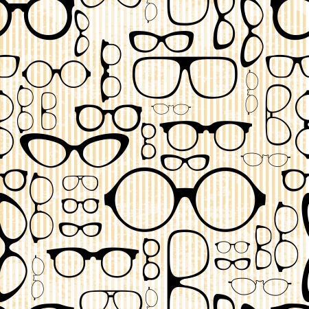 seamless pattern from glasses in vintage style