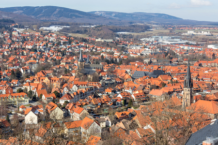 wernigerode harz germany from above