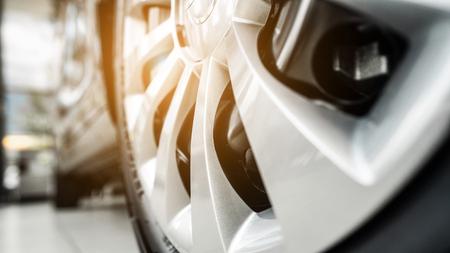 Photo pour wheel of a modern car from a close angle - image libre de droit