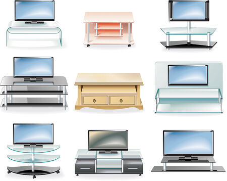 Vector furniture icon set  Tv Stands: Royalty-free vector