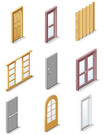building products icons. Part 3. Doors