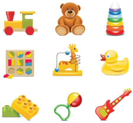toy icons. Baby toys