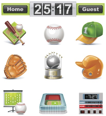 Vector baseball / softball icon set