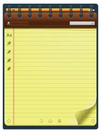 notepad template (vertical)