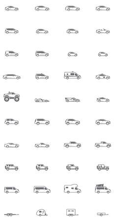 Foto de Set of the different types of cars - Imagen libre de derechos