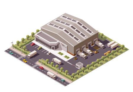 Foto de Vector isometric warehouse building icon - Imagen libre de derechos