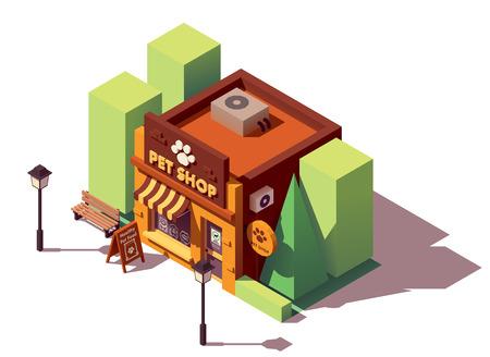Ilustración de Vector isometric pet store - Imagen libre de derechos