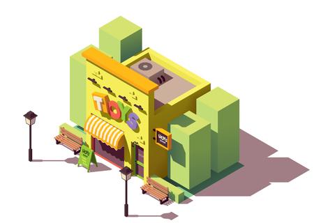 Ilustración de Vector isometric toy store - Imagen libre de derechos